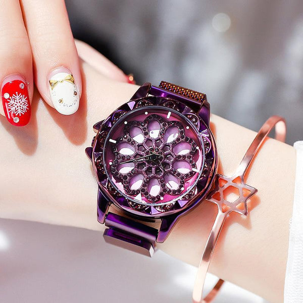 Trendinggate.com Purple Snowflake Magnetic Band Hot Selling Blockbuster 2019 New Yilu Running Watches When You Have Time