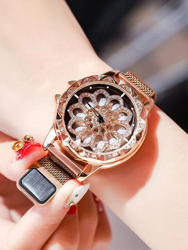 Trendinggate.com Rose gold snowflake magnetic belt Hot Selling Blockbuster 2019 New Yilu Running Watches When You Have Time