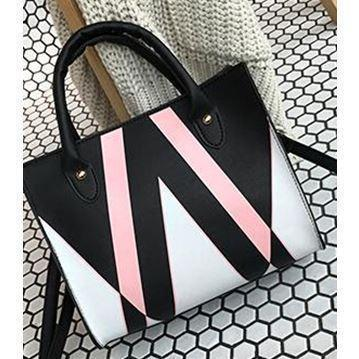 Trendinggate.com black (colour) insBag woman 2019 summer new Korean style splicing 100 shoulder slanted small square bag cross-border special