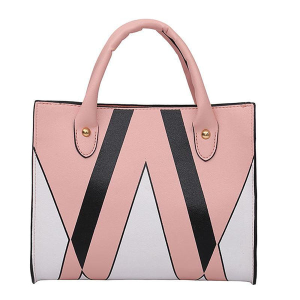 Trendinggate.com Pink insBag woman 2019 summer new Korean style splicing 100 shoulder slanted small square bag cross-border special