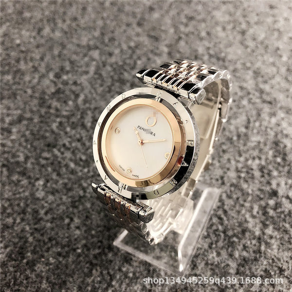Trendinggate.com 1-silver rose gold INSKorean Simple Watches Female Trend Steel Band Watches Fashion Non-mechanical Quartz Display Wholesale