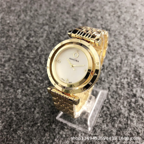 Trendinggate.com 4-gold INSKorean Simple Watches Female Trend Steel Band Watches Fashion Non-mechanical Quartz Display Wholesale