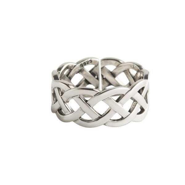 Trendinggate.com Japan and South Korea wind new s925 pure silver ring girl open net line temperament silver hand jewelry simple trend silver ring (s925Sterling Silver)