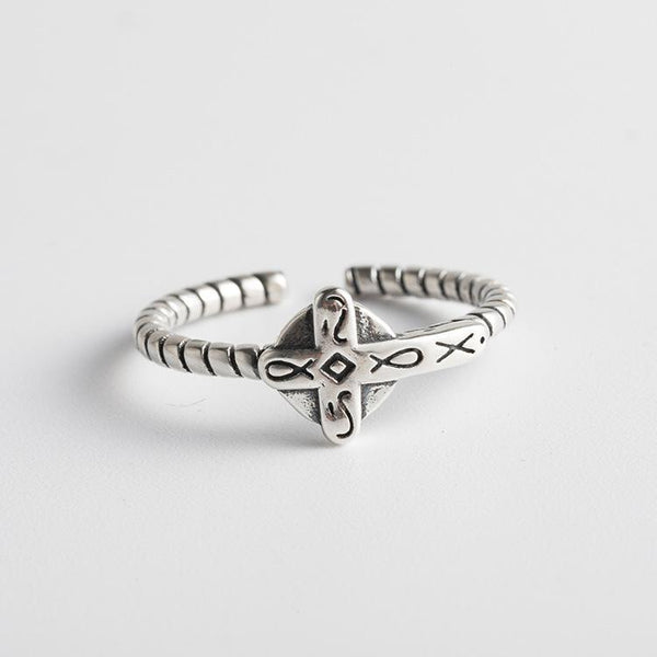 Trendinggate.com Japanese and Korean S925 Silver Ring Girls Open Small Fresh Fashion Silver Handwear Spiral Trend Silver Ring (S925[治] fine silver  Openings adjustable)