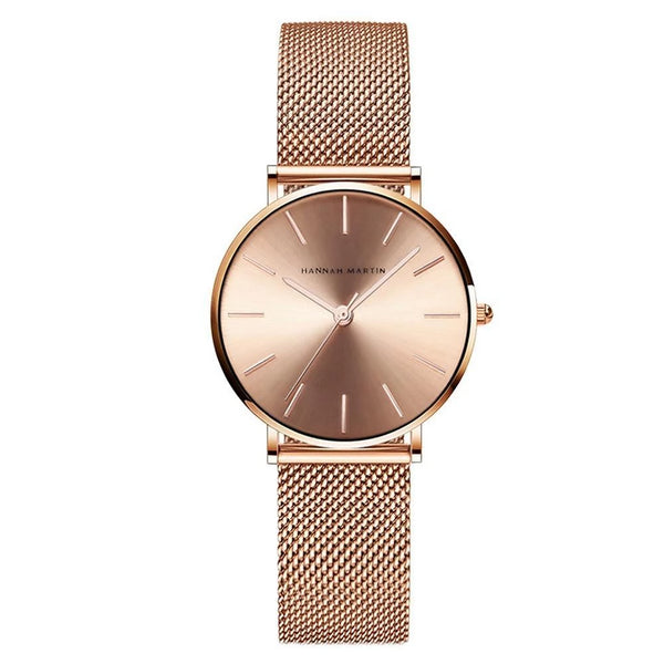 Trendinggate.com CC36-WFF Japanese movement Amazon steel mesh with waterproof ladies watch women watches 2019 rose gold ladies watch
