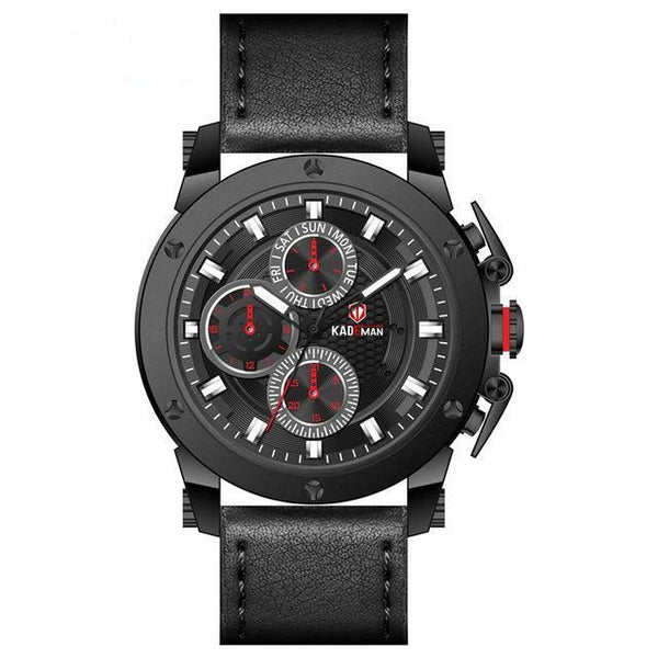 https://detail.1688.com/offer/576512041139.html Black belt red needle kademan watch Leather Multi-fanctional mechanical