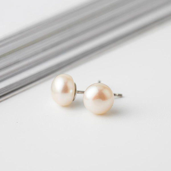 Trendinggate.com Korean version of the new Korean style s925 pure Tremella nail female natural pearl fashion 100 lap ear needle simple personality Tremella decoration