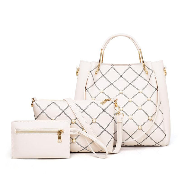 Trendinggate.com white (colour) ladies hand bags2019Contrast embroidered pearls shoulder-to-shoulder hand-in-hand slung portable bag