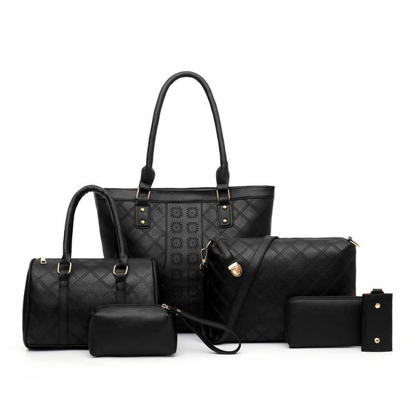 Trendinggate.com black (colour) Manufacturers direct sales of the new single shoulder slanting multi-piece bag ladies set mother bag fashion retro-European and American explosions in 2019