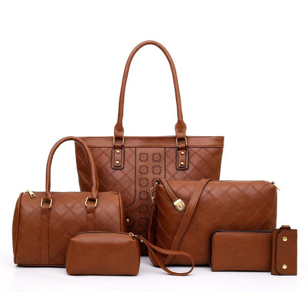 Trendinggate.com Light brown Manufacturers direct sales of the new single shoulder slanting multi-piece bag ladies set mother bag fashion retro-European and American explosions in 2019