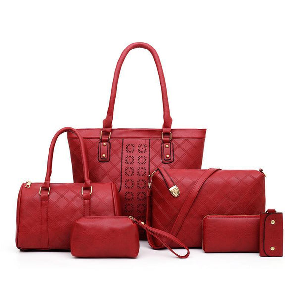 Trendinggate.com Red Manufacturers direct sales of the new single shoulder slanting multi-piece bag ladies set mother bag fashion retro-European and American explosions in 2019