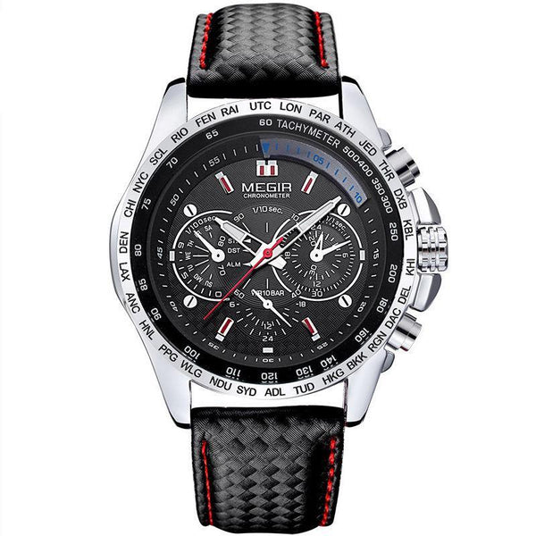 https://detail.1688.com/offer/530981002318.html Black surface of black steel shell MEGIR A+ generation luminous three-eyed sports men's watch