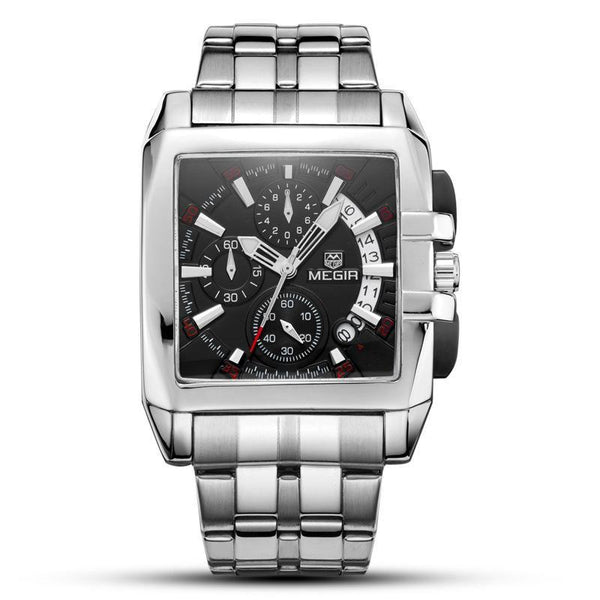 https://detail.1688.com/offer/530924993021.html Black surface of steel strip MEGIR A+ generation square watch with steel band
