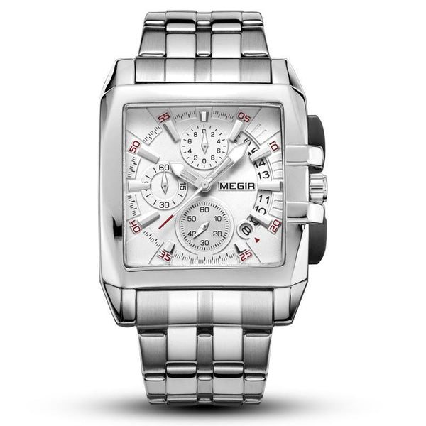 https://detail.1688.com/offer/530924993021.html Steel strip white surface MEGIR A+ generation square watch with steel band
