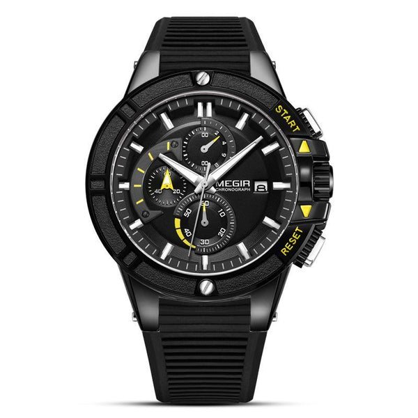Trendinggate.com Men's Watches Black Black Shell Black Ribbon MEGIR classic design brings style and prestige to any outfit