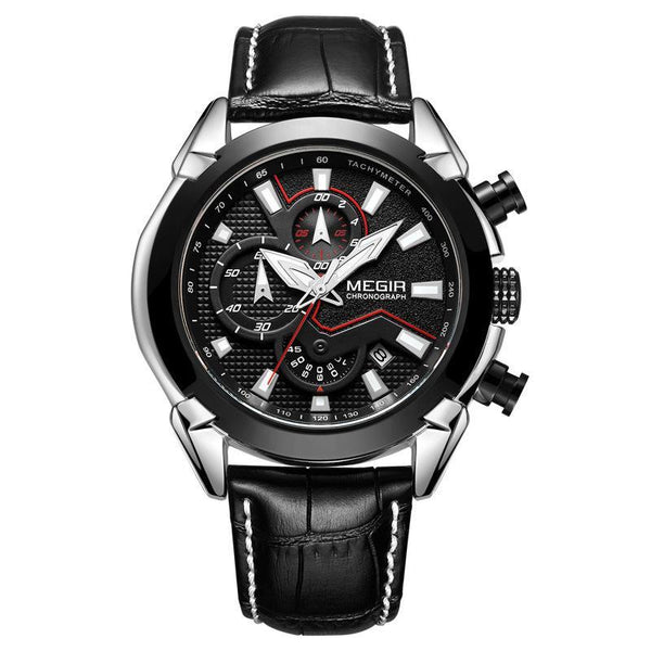 Trendinggate.com Men's Watches Black, black. MEGIR Luminous Automatic elegant watch
