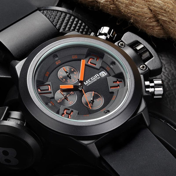 MEGIR practical quartz movement makes an ideal piece for everyday use