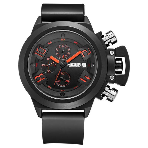 Trendinggate.com Men's Watches Black MEGIR practical quartz movement makes an ideal piece for everyday use