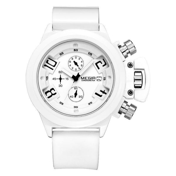 Trendinggate.com Men's Watches white (colour) MEGIR practical quartz movement makes an ideal piece for everyday use