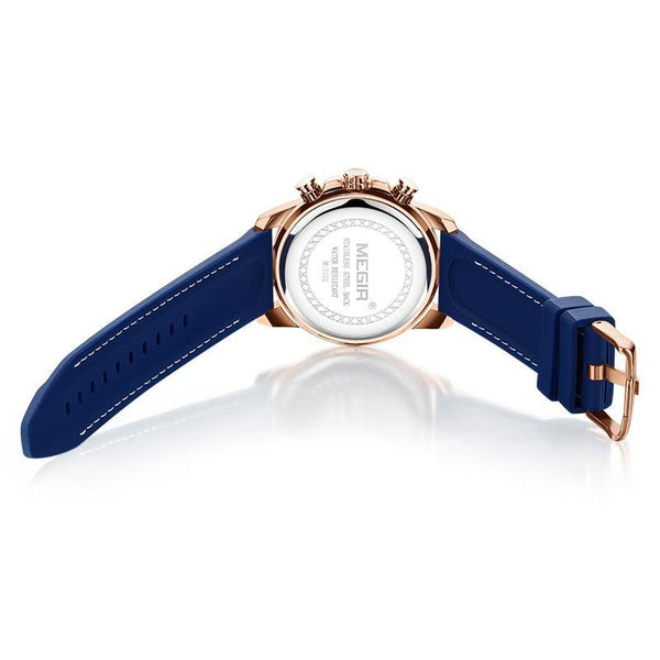 Trendinggate.com Men's Watches MEGIR tough rubber band keeps it secure and comfortable