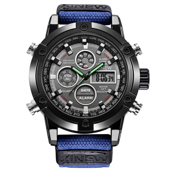 https://detail.1688.com/offer/597583968790.html Men's Watches blue Mens Chronograph Business Watch
