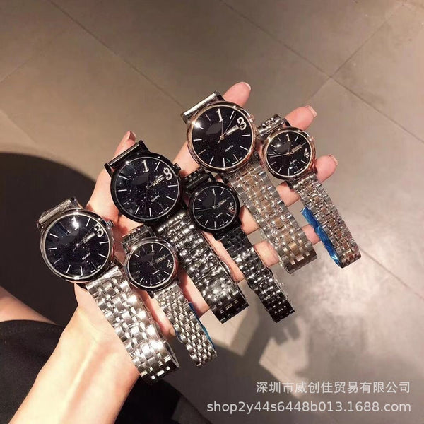 Trendinggate.com Black shell black surface Microbusinessmen exploded 1314 lifetime couples watch double calendar quartz fine steel watches act as wholesale agent