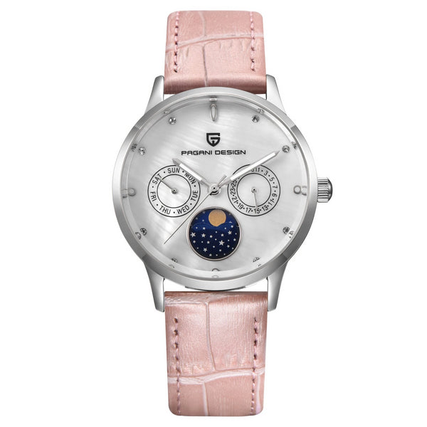 Trendinggate.com White shell and flour Ms. Bergani Watch Gift Fashion Calendar Watch Fashion Function Leisure Watch Woman Watches 2723