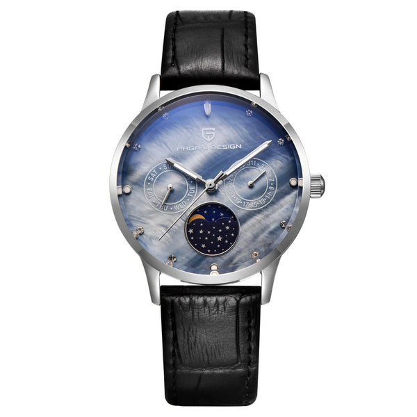 Trendinggate.com White Shell Blue Face Ms. Bergani Watch Gift Fashion Calendar Watch Fashion Function Leisure Watch Woman Watches 2723