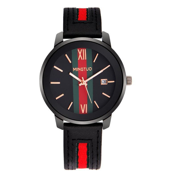 Trendinggate.com New atmospheric fashion large dial calendar women's watches fashion leather decorative fashion casual ladies watches in Europe and the United States