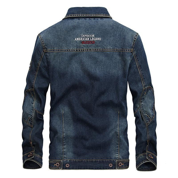Trendinggate.com New jacket for autumn wear men's jeans jacket loose size simple casual jacket 66008