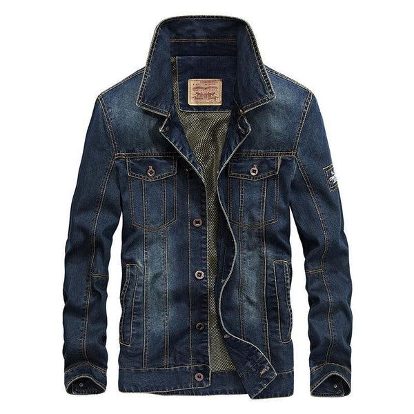 Trendinggate.com mazarine / 2XL New jacket for autumn wear men's jeans jacket loose size simple casual jacket 66008