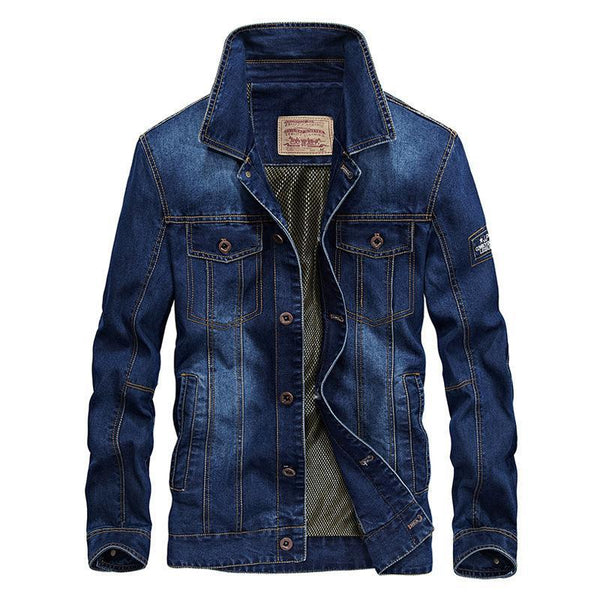 Trendinggate.com Wathet / 2XL New jacket for autumn wear men's jeans jacket loose size simple casual jacket 66008