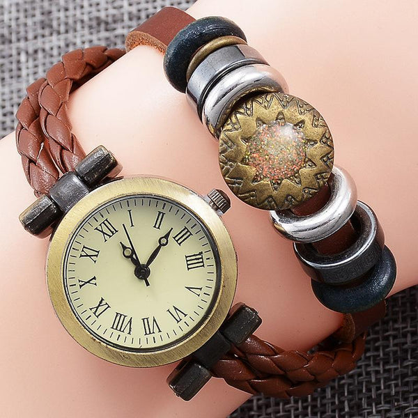 https://detail.1688.com/offer/549503748487.html New popular retro cowhide winding quartz watch lady Korean version of fashion handchain watch wholesale