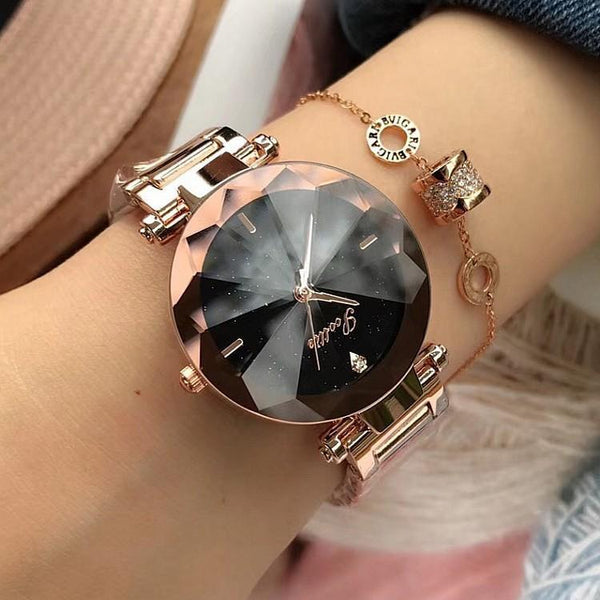Trendinggate.com New Sigaudi fashion minimalist women's watch starry rose gold watch women's bracelet factory direct sales