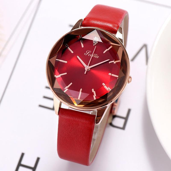 Trendinggate.com New Style Sigaudi's Direct Sale Diamond Glass Red Watch for Ladies Supports One Delivery