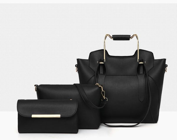 Trendinggate.com Handbags Black New stylish sub-bag three-piece set