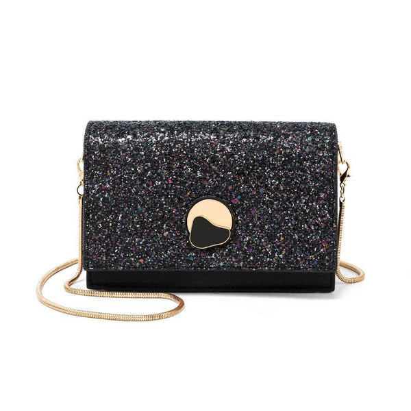 Trendinggate.com New summer messenger bag fashion sequin chain small square bag Korean fairy western style messenger bag a generation of hair