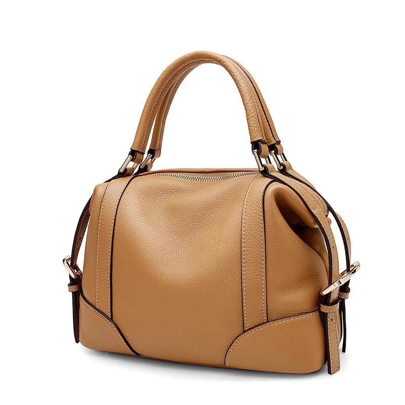 Trendinggate.com Original new leather women's bag fashion top layer Kraft handbag leisure soft leather shell bag 1112