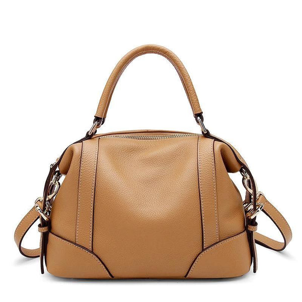 Trendinggate.com Apricot Original new leather women's bag fashion top layer Kraft handbag leisure soft leather shell bag 1112