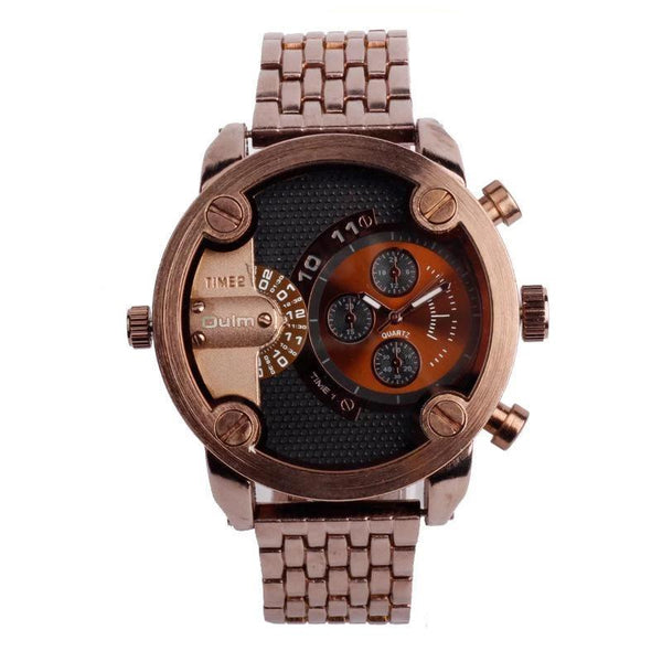 Trendinggate.com oulmBrand Watch Wholesale/Men's steel band business multi time zone watch manufacturers direct supply ht3130