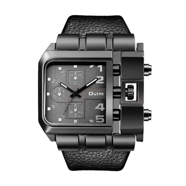 Trendinggate.com black OulmCross border 2019 quartz watch men's watch leisure belt watch men's watch 3364