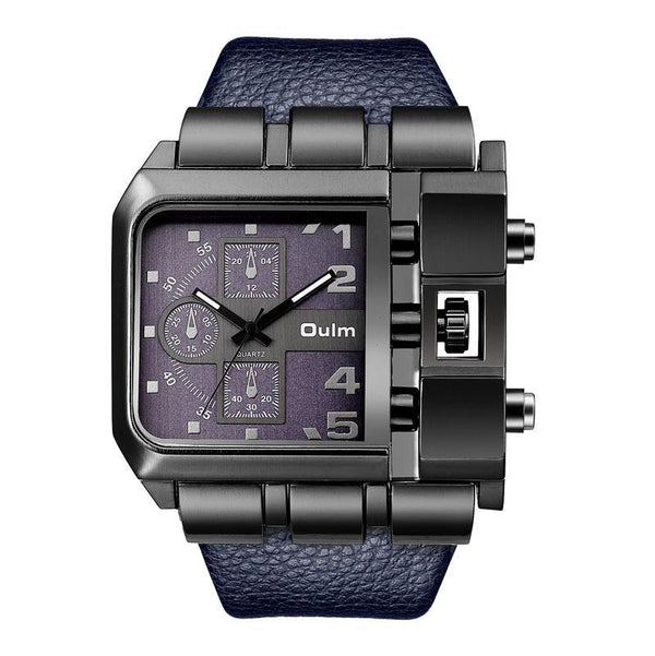 Trendinggate.com blue OulmCross border 2019 quartz watch men's watch leisure belt watch men's watch 3364