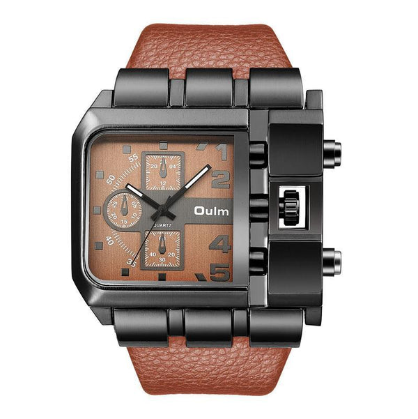 Trendinggate.com Brown OulmCross border 2019 quartz watch men's watch leisure belt watch men's watch 3364