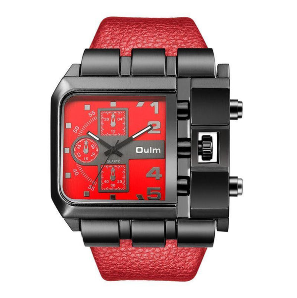 Trendinggate.com red OulmCross border 2019 quartz watch men's watch leisure belt watch men's watch 3364