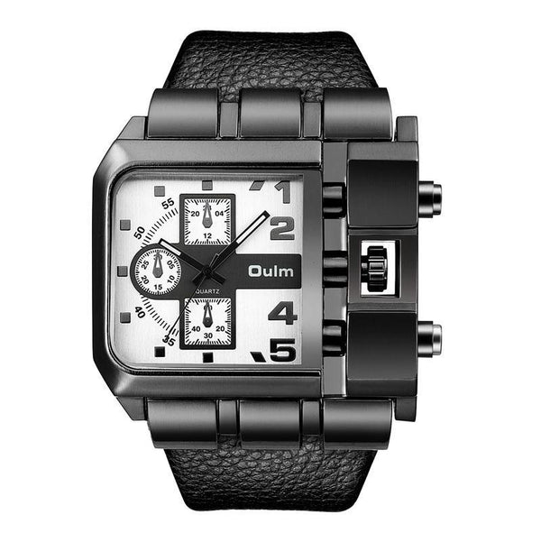Trendinggate.com White OulmCross border 2019 quartz watch men's watch leisure belt watch men's watch 3364