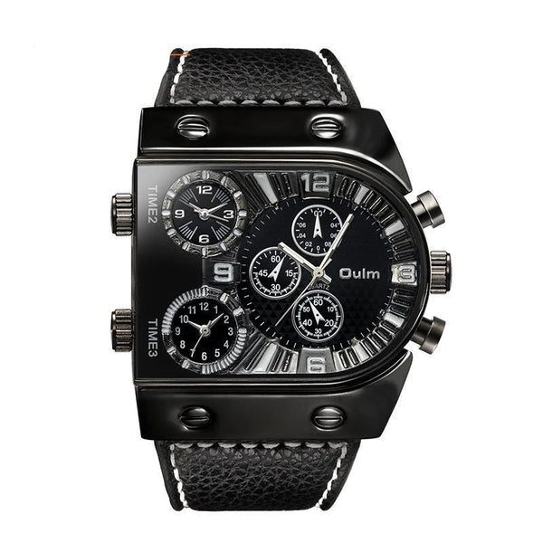 Trendinggate.com Black OulmCross-border watch European and American large-scale men's quartz watch manufacturers multi-time regional table fashion men's skin belt