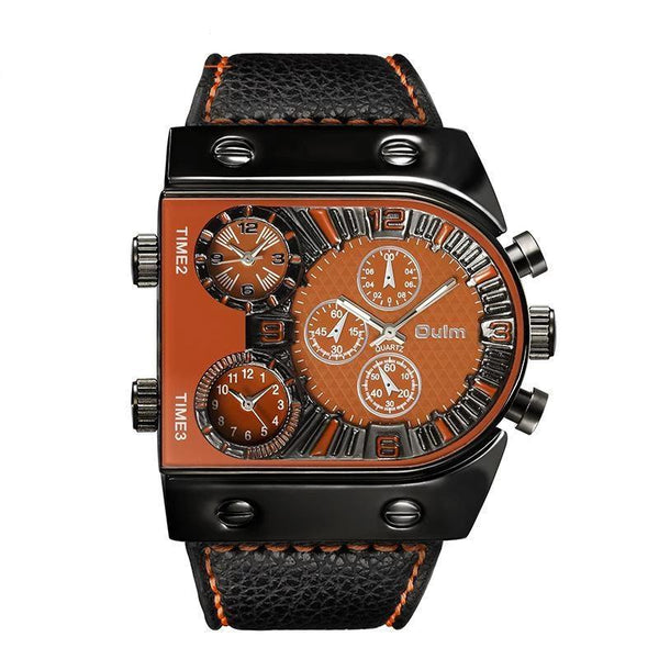 Trendinggate.com Orange OulmCross-border watch European and American large-scale men's quartz watch manufacturers multi-time regional table fashion men's skin belt