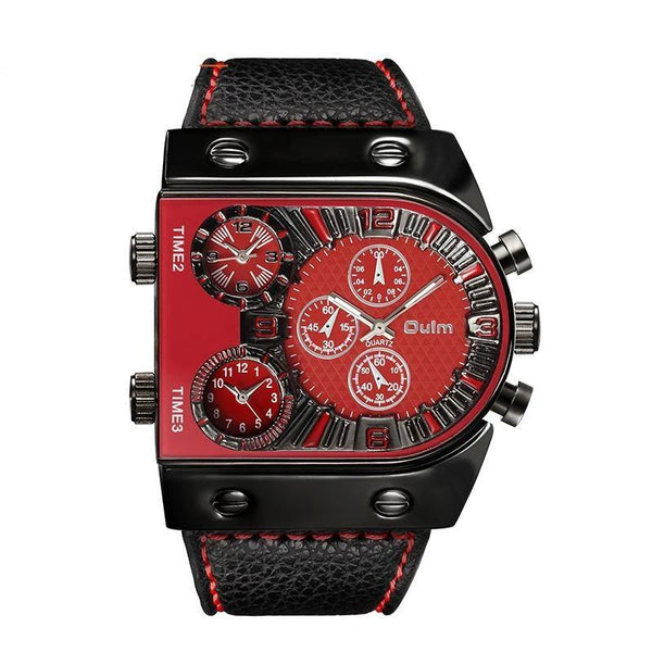 Trendinggate.com red OulmCross-border watch European and American large-scale men's quartz watch manufacturers multi-time regional table fashion men's skin belt