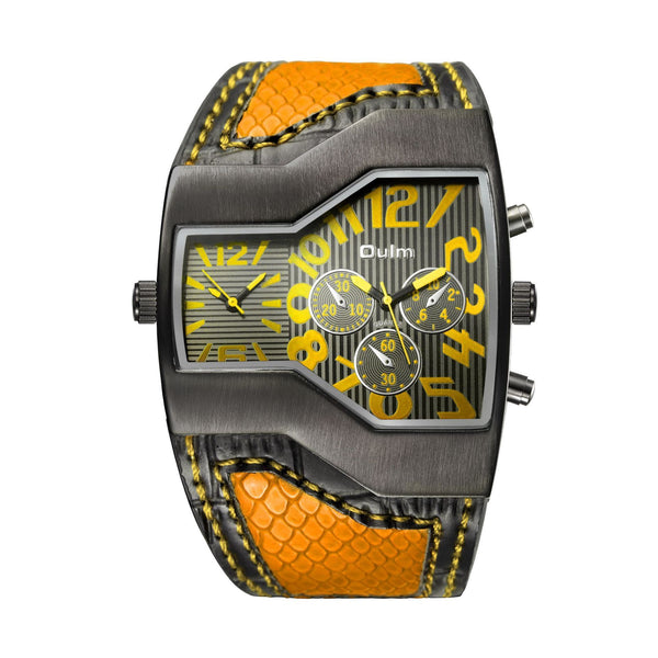 Trendinggate.com yellow oulmEurope radium watch manufacturer watches wholesale personalized men's watches two times trend men's watches 1220 pop