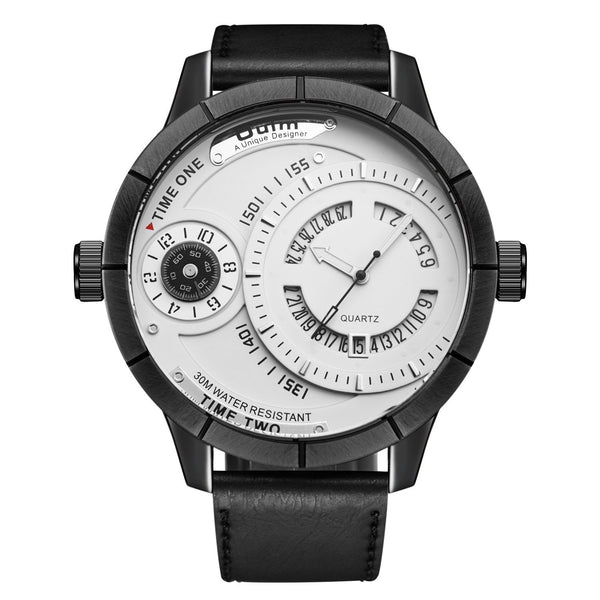 Trendinggate.com White OulmEuropean and European calendar water-proof quartz watch men's casual watch, European and American big dial watch 2019 new style